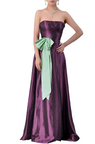 Dress line Strapless Taffeta Natrual Bridesmaid A Long nq7EFnYCw