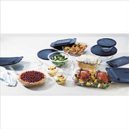 World Kitchen 1058994 Pyrex Bakeware 19-Piece Baking Dish Set, Clear by Pyrex