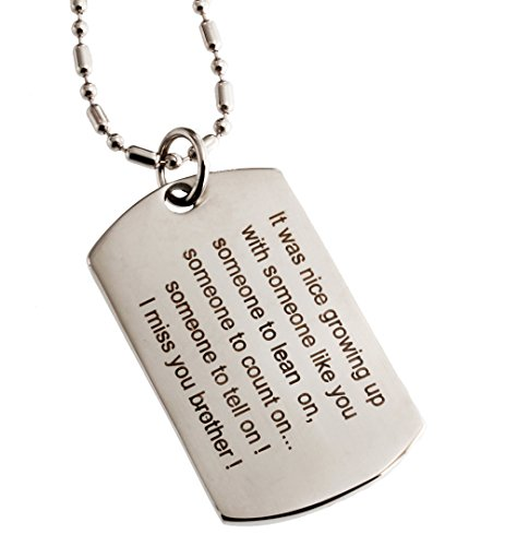 R.h. Jewelry Stainless Steel Sentiment Pendant Dog Tag for Your (Sentiment Tags)