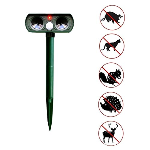 GADEMATA | Repellents | Outdoor Waterproof Solar Power Ultrasonic Animal Pest Mouse Repeller PIR Sensor Garden Cat Dog Fox Repellent Keep Animals Away (Ultrason Repeller Pest)
