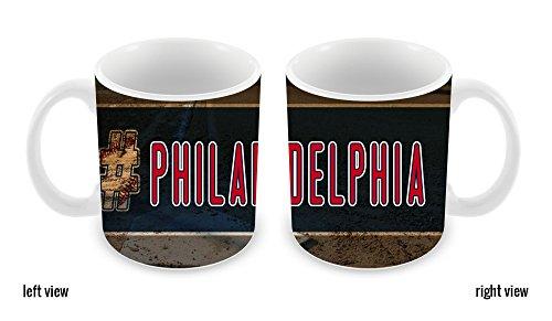 BleuReign(TM) Hashtag Philadelphia #Philadelphia Baseball Team 11oz Ceramic Coffee Mug
