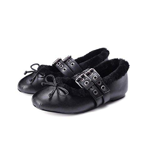 Casual chaussures chaussures ronde chaude mode femme tête fourrure douce La CwS5xUqE