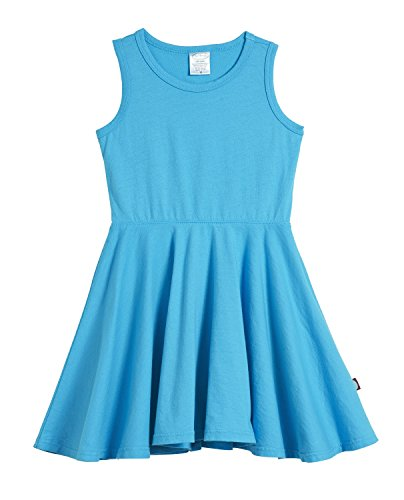City Threads Little Girls' Cotton Party Twirly Tank Dress - Sensitive Skin and Sensory Friendly - School Summer, Turquoise, Size 2T -