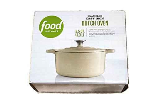 Food Network 3.5 qt Enameled Cast-Iron Dutch Oven Light Gray Pearl