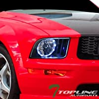 Topline Autopart Black Clear Housing Halo LED Headlights...
