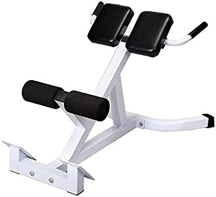 Strength Training Workout Equipment Black White Back Hyper Extension Ab Bench Abdominal Muscles Exercise Bench Sit Up Bench Roman Chair