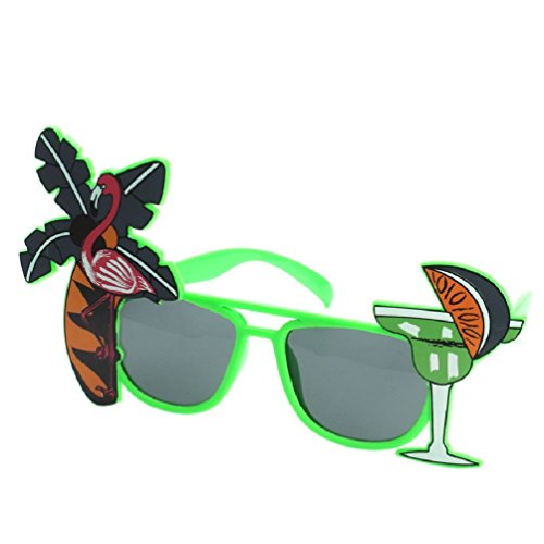 Funny Decorative Flamingo Beach Party Miami Style Costumes Sunglasses Glitter Beach Glasses Event Party Supplies Decoration