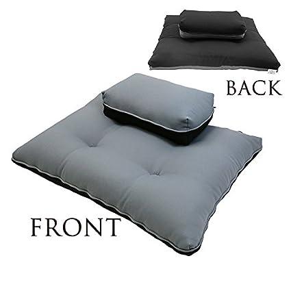 Amazon.com : Magshion Zafu & Zabuton Meditation Cushion Set ...