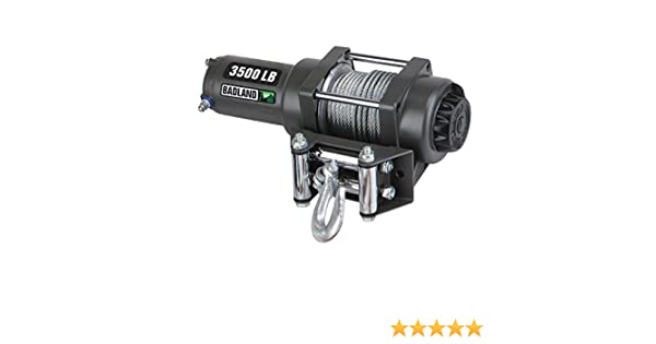 amazon com badland winches 61383 atv utility electric winch withamazon com badland winches 61383 atv utility electric winch with automatic load holding brake from tnm, 3500 lb industrial \u0026 scientific