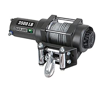 amazon com: badland winches 61383 atv/utility electric winch with automatic  load-holding brake from tnm, 3500 lb: industrial & scientific