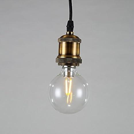 Glighone Lámpara de Techo Lámpara Industrial 40W Luz Vintage ...