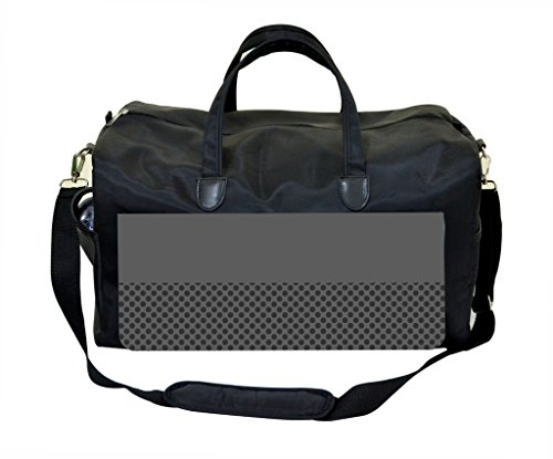 Grey Colorblock and Polka Dots Pattern Diaper Bag
