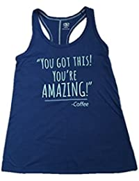 Tank Top Graphic T-Shirt You Got This You Are Amazing-Coffee, Large