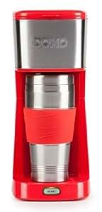 Domo DO438K - Cafetera (Independiente, Drip coffee maker, De café molido, Rojo, Acero inoxidable, Acero inoxidable, Café)