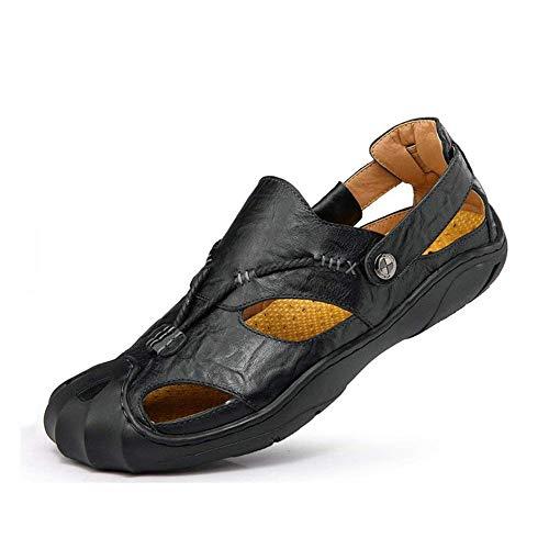 Hombres Exteriores Con Verano De On Playa Deportes Al Cerrada Aire Casual Cuero Baotou Caminar Zapatillas Libre Deportivas El A Para Hombre Punta Sandalias XqYxPY