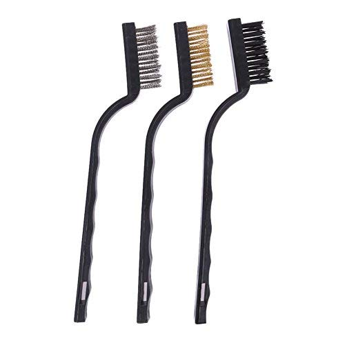 - Che-good Metal Rust - 3pcs Plastic Handle Wire Brush Stainless Steel Brass Cleaning Polishing Detail Metal Rust Clean - Primer Activator Spray Gel Converter Trash Organizer Chairs Removal Paint