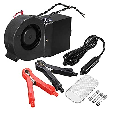 Beaums 12V PTC 300W/500W Adjustable Car Fan Heater Auto Ceramic Automatic Thermostat Heater Defroster Car Accessories