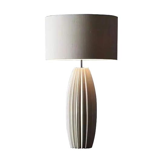 Lámpara De Mesa De Cerámica Moderna, Pantalla De Lino Y ...