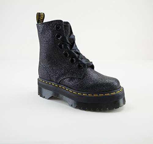 - Dr. Martens Women's Molly Glitter 6 Eye Boots, Black, 10 M US