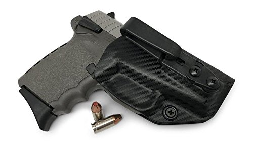 Concealment Express: SCCY CPX-1 / CPX-2 Tuckable Ambidextrous IWB KYDEX Holster - Custom Fit - US Made - Concealed Carry Holster - Fully Adjustable (CF BLK, Tuck)