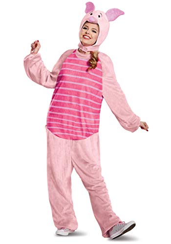 Disguise Winnie The Pooh Piglet Deluxe Adult Costume Onesie Medium/Large Pink
