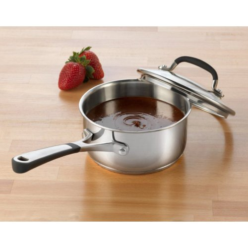 Simply Calphalon Stainless Steel Saucepan with Lid Size: 2-qt.
