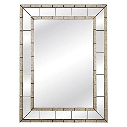 Amazon.com: Bassett Mirror M3639EC Caro Antique Wall Mirror ...