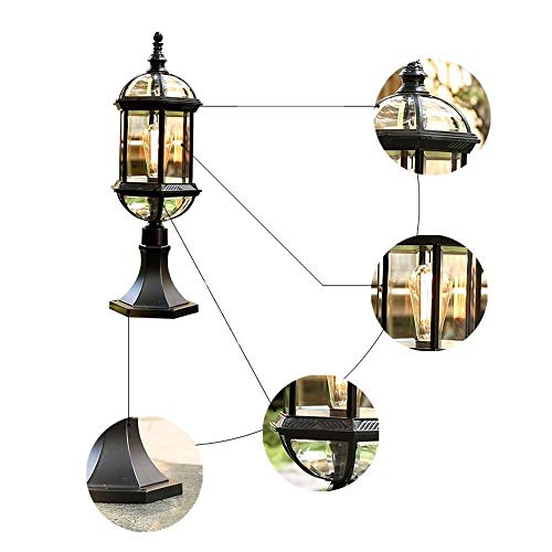 KLSJJ Vintage Wall Lamp Post Lamp, Antique Waterproof Villa Garden ()