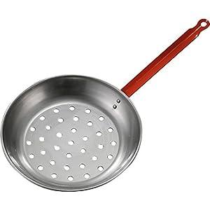 Padella per castagne in ferro lucidato- Per cucinare castagne e frutta secca sulla legna o su cucina a gas 5 spesavip