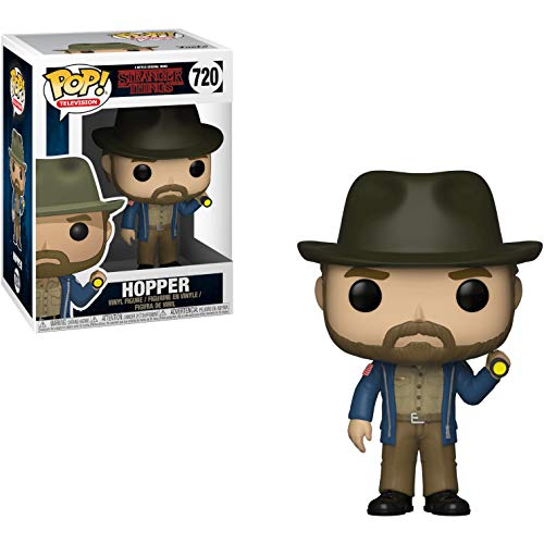 - Funko Hopper: Stranger Things x POP! TV Vinyl Figure & 1 PET Plastic Graphical Protector Bundle [#720 / 36039 - B]