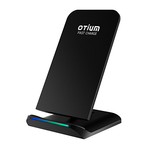 iPhone X Wireless Charger, Otium Fast Wireless Charging Stand Dock with 2 Coils Cell QI Wireless Charger Pad for iPhone 8 Samsung Galaxy S8 Plus S8+ S8 S7 S7 Edge S6 Note 8 / 5 etc.- No AC Adapter