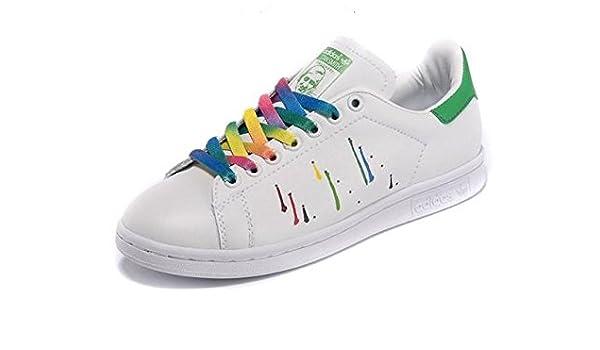 9e5bd767addce Adidas Originals Men s Stan Smith Pride Pack Shoes D70352