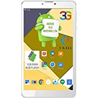 (CERTIFIED REFURBISHED) IKALL N9 Tablet (7-inch,1 GB, 8 GB, Wi-Fi + 3G), White