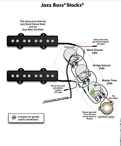 Musiclily Plaque de contr/ôle c/âbl/ée pour basse Fender Jazz Bass Noir