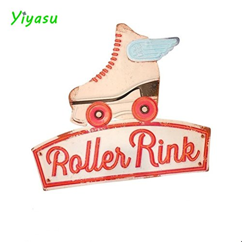 ROLLER RINK Irregular Vintage Tin Sign Pub Bar Coffee Restaurant Store Home Metal Wall ()