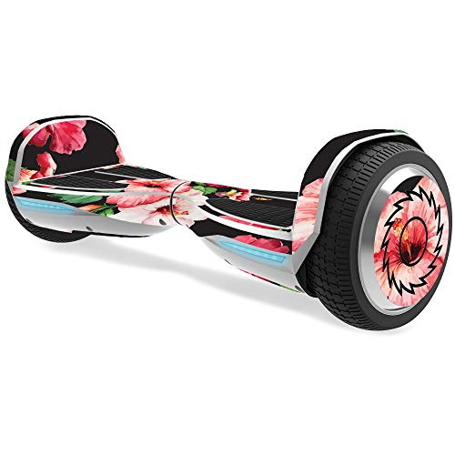 MightySkins Skin for Razor Hovertrax 1.5 Hover Board - Hibiscus | Protective, Durable, and Unique Vinyl Decal wrap Cover | Easy to Apply, Remove, and Change Styles | Made in The USA