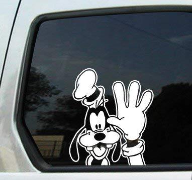 Goofy Waving Peeking White 6