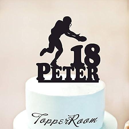 Decoración para tarta de cumpleaños con diseño de fútbol ...