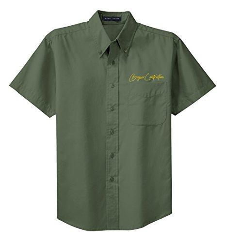 Embroidered Short Sleeve Work Shirt - 3