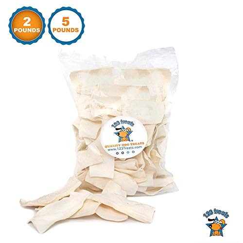 - 123 Treats - Rawhide Chips Dog Chews (2 Lbs) 100% All-Natural Grass-Fed Free-Range Beef Hide Strips for Dogs with No Hormones, Additives or Chemicals