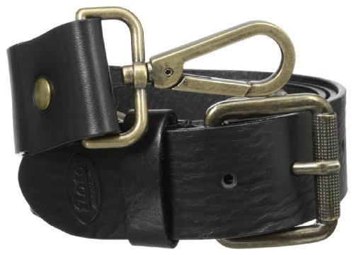 Floto Italian Calfskin Leather Belt Strap, Black, One Size