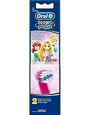 Oral B Barn tandborste borsthuvud ersättning för elektrisk tandborste – snövit & Cinderella EB10-1 2 stycken