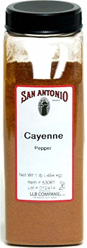 1-Pound Premium Ground Cayenne Pepper Powder 40000 Heat Units by San Antonio