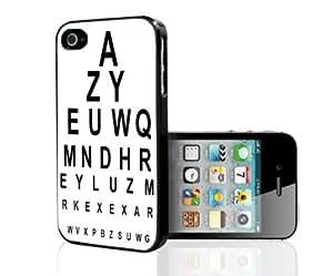 Fun Black and White 20/20 Eye Chart Hard Snap on Phone Case (iPhone 5/5s)