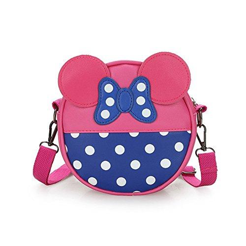Kinderrucksack kinder Rucksack Prinzessin Schultertaschen Kindertasche Handtasche Mädchenhandtasche Fashion Kind Tasche (Rosa) Rose