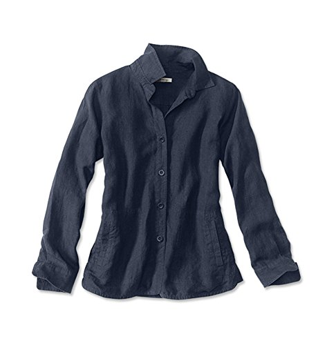 Orvis Women's Shoreline Linen Shirt Jacket, Indigo, X (Linen Womens Shirt Jacket)
