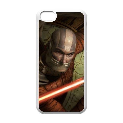 H3T11 Star Wars Knights of the Old Republic II Le Seigneurs Sith S5A9WC coque iPhone Cas de téléphone cellulaire 5c couvercle coque de CZ8ORA3QE blanc