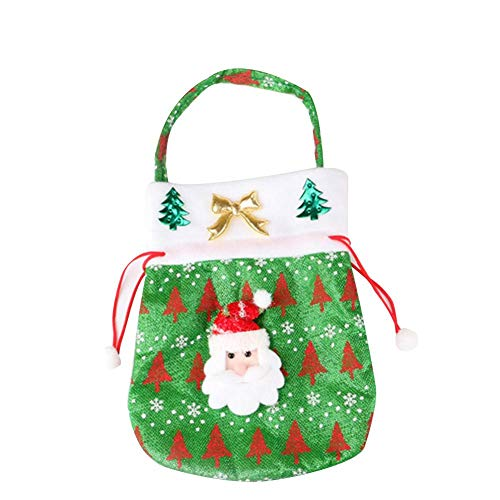 - oftenrain Christmas Drawstring Bags Santa Claus Snowman Gift Bag Christmas Printing Candy Bag, Exquisite Christmas Decorations Accessories