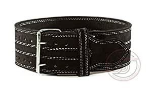 "Serious Steel Fitness Leather Weight Lifting Belt | Powerlifting, Weightlifting & Exercise Belt | 4"" Wide & 10mm Thick (2X-Large)"