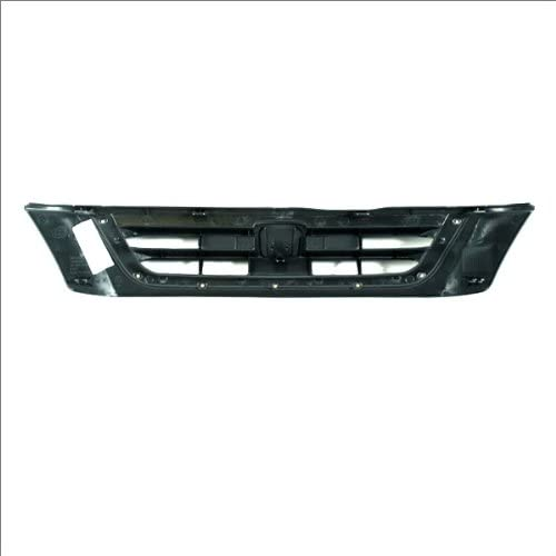 4D SUV Front Grille New Bar Grid Raw Mat Black Grill Molding Assembly CarPartsDepot 400-202833 HO1200151 HO1200151